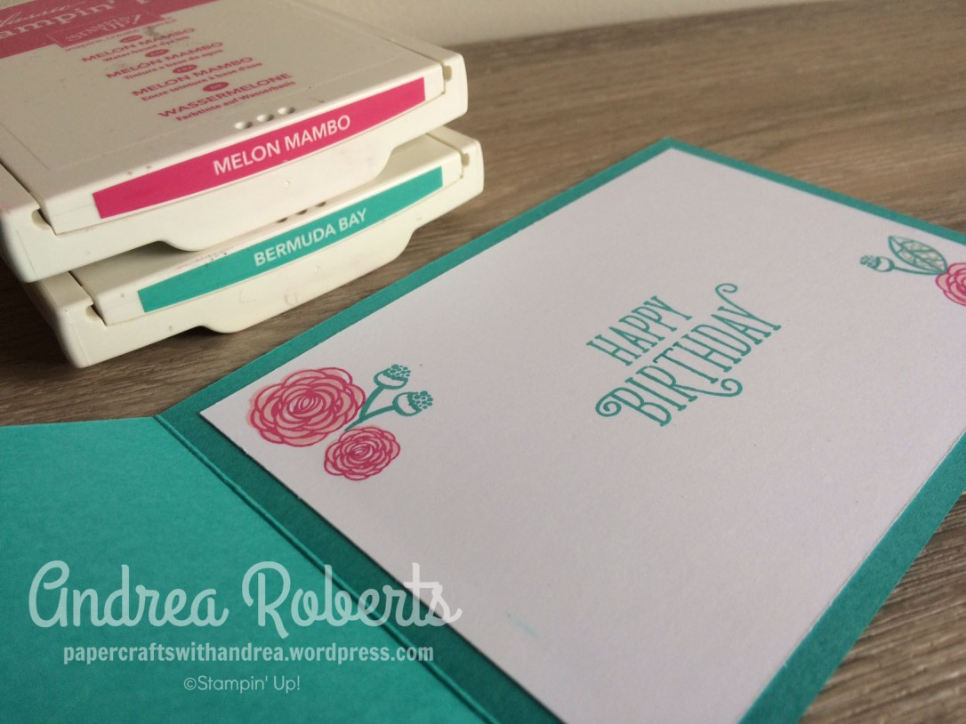 Papercrafts with Andrea, AWHT Fav Colour Combo Blog hop, Stampin' Up! Australia